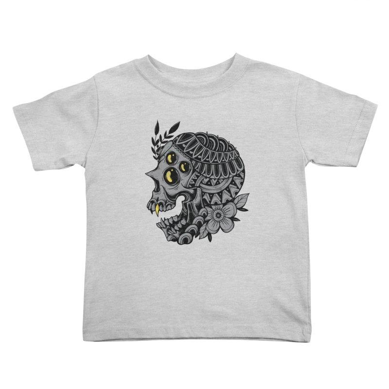 Botanical Skull Kids Toddler T-Shirt by godzillarge's Artist Shop