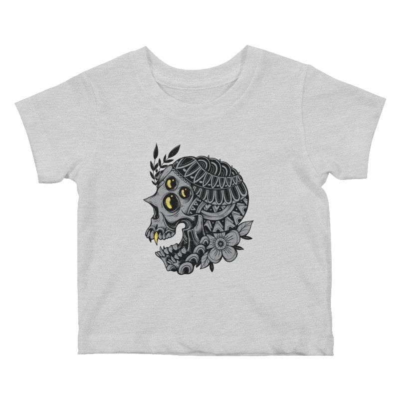 Botanical Skull Kids Baby T-Shirt by godzillarge's Artist Shop
