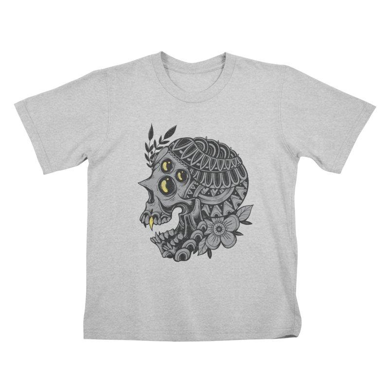 Botanical Skull Kids T-Shirt by godzillarge's Artist Shop
