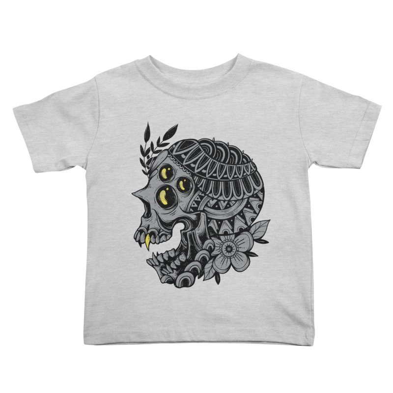 Botanical Skull Kids Toddler T-Shirt by godzillarge's Artist Shop