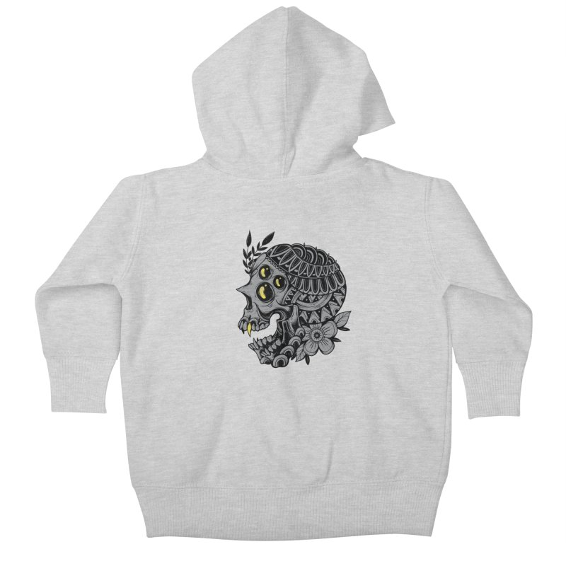 Botanical Skull Kids Baby Zip-Up Hoody by godzillarge's Artist Shop