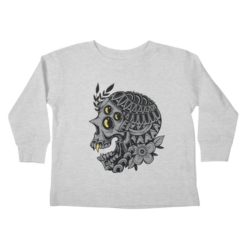 Botanical Skull Kids Toddler Longsleeve T-Shirt by godzillarge's Artist Shop