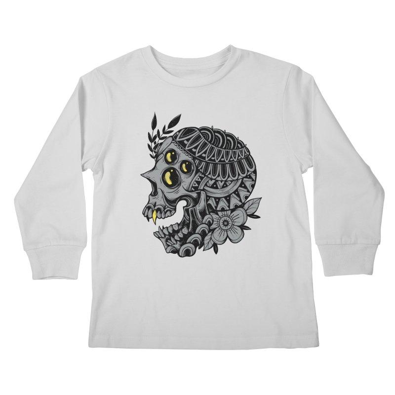 Botanical Skull Kids Longsleeve T-Shirt by godzillarge's Artist Shop