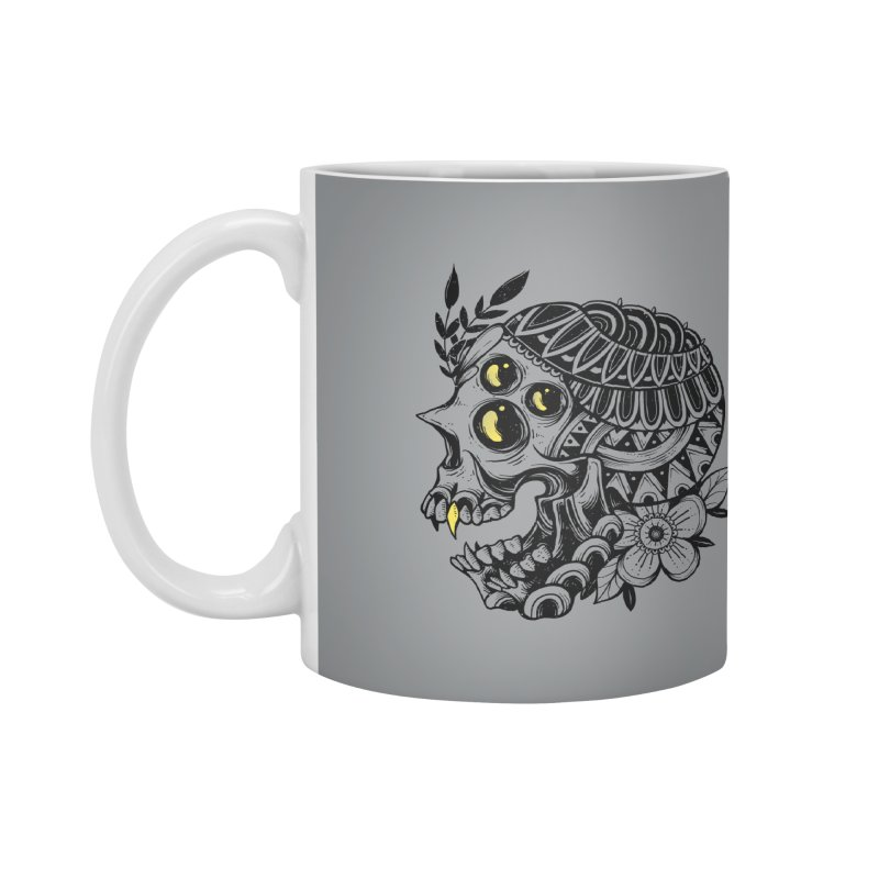 Botanical Skull Accessories Mug by godzillarge's Artist Shop