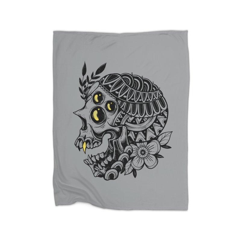 Botanical Skull Home Blanket by godzillarge's Artist Shop