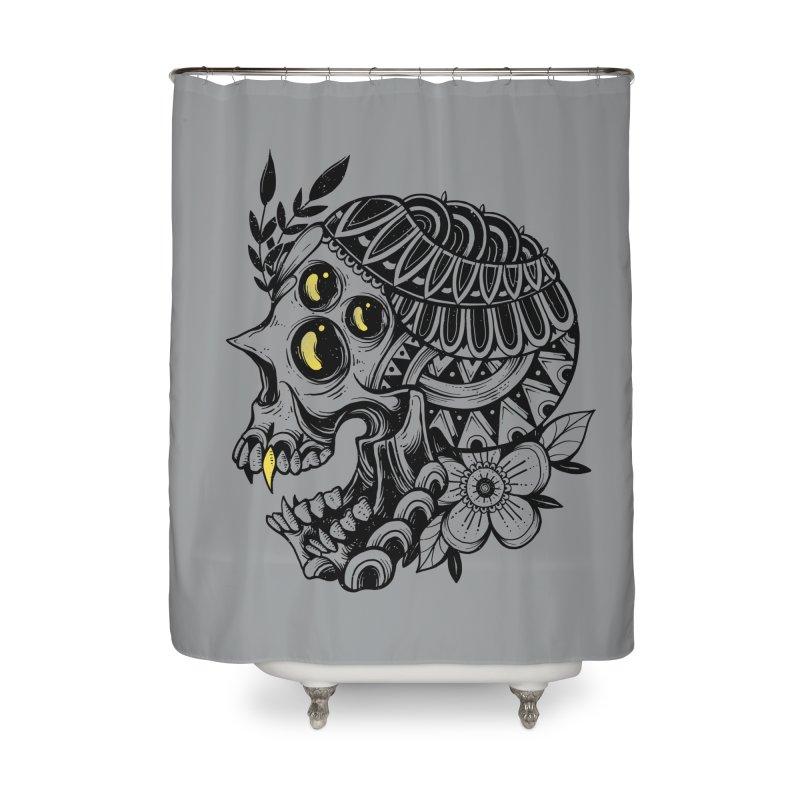 Botanical Skull Home Shower Curtain by godzillarge's Artist Shop