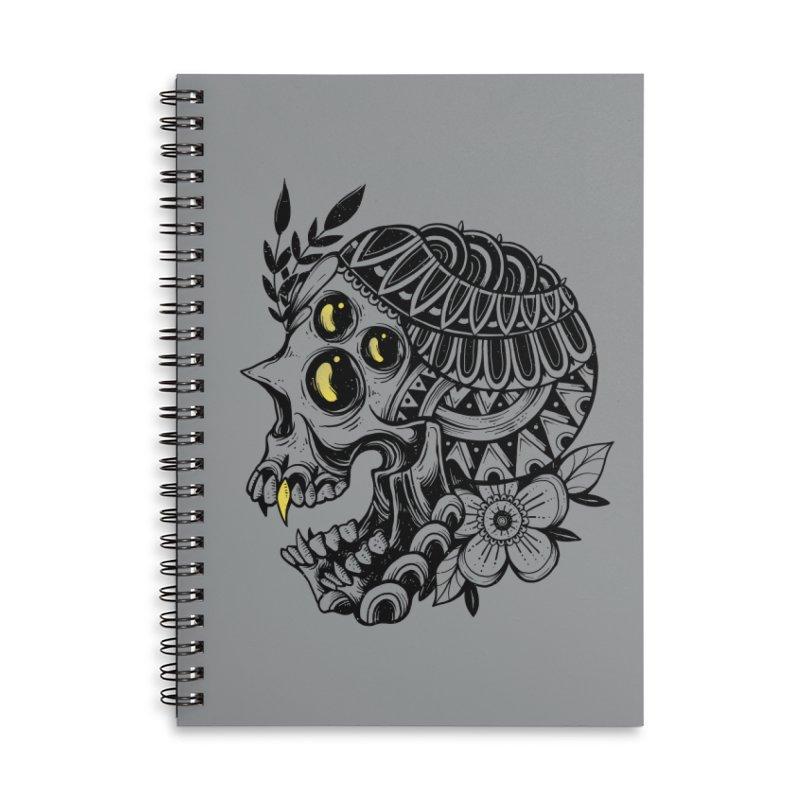 Botanical Skull Accessories Notebook by godzillarge's Artist Shop
