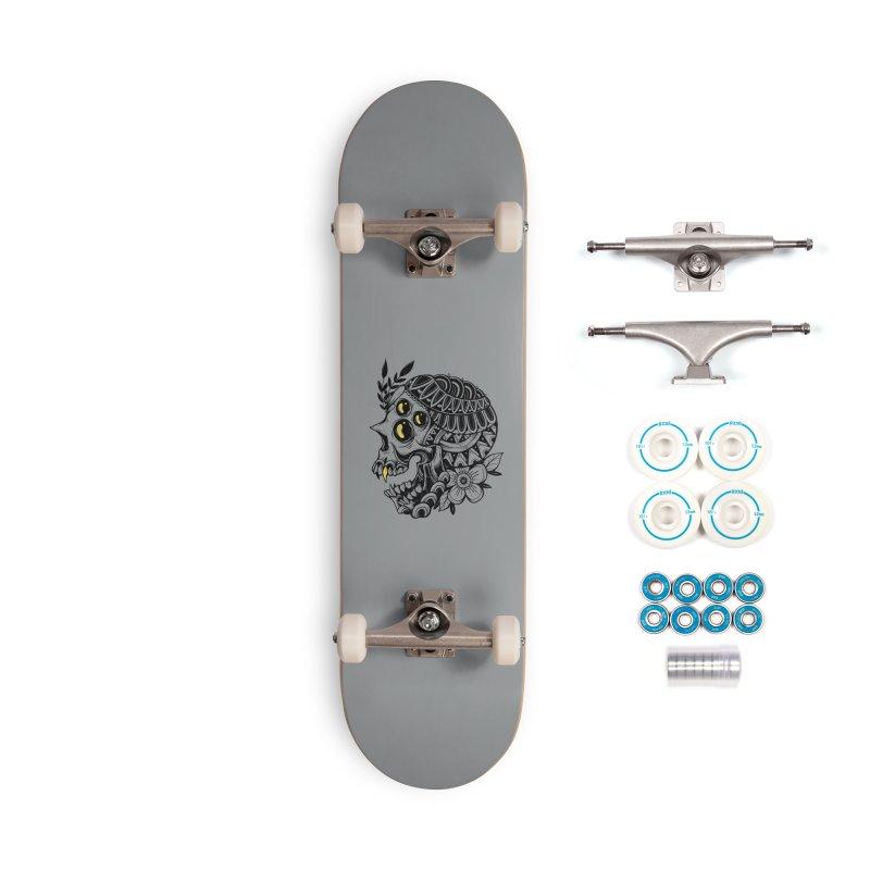 Botanical Skull Accessories Skateboard by godzillarge's Artist Shop