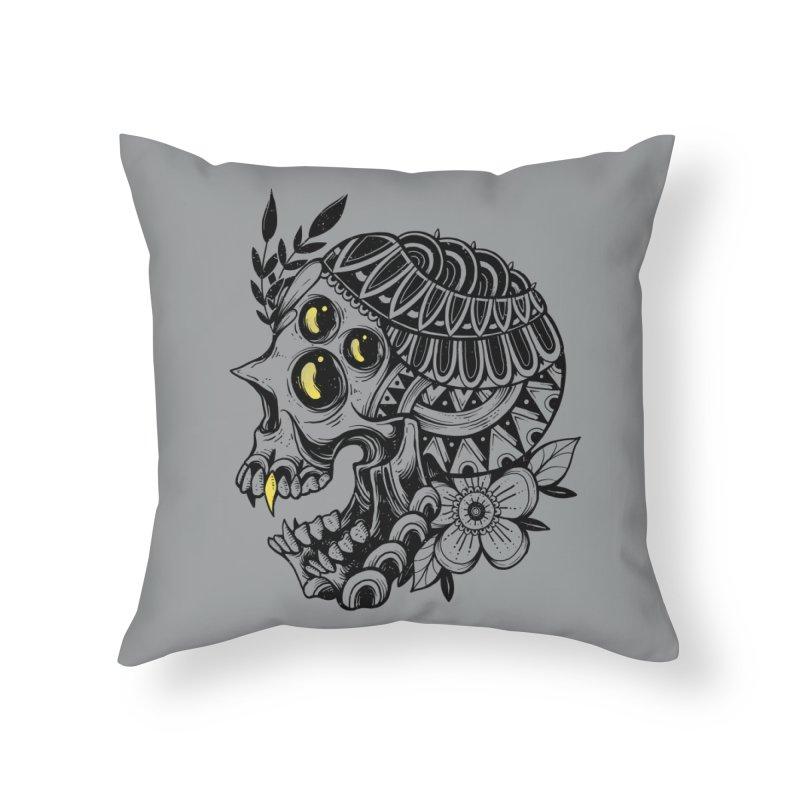 Botanical Skull Home Throw Pillow by godzillarge's Artist Shop