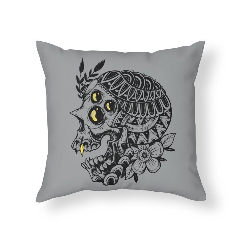 Botanical Skull Home Throw Pillow by godzillarge's Artist Shop