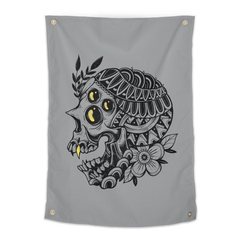 Botanical Skull Home Tapestry by godzillarge's Artist Shop