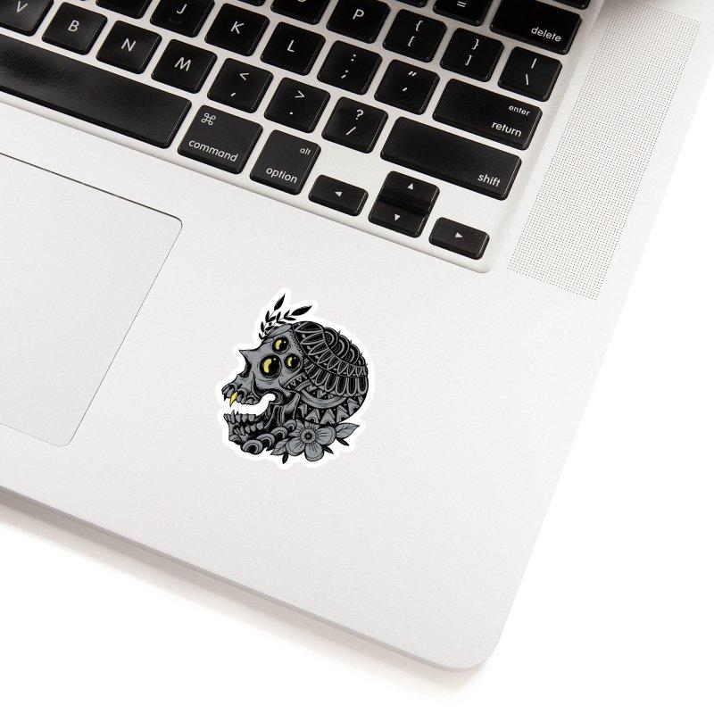 Botanical Skull Accessories Sticker by godzillarge's Artist Shop