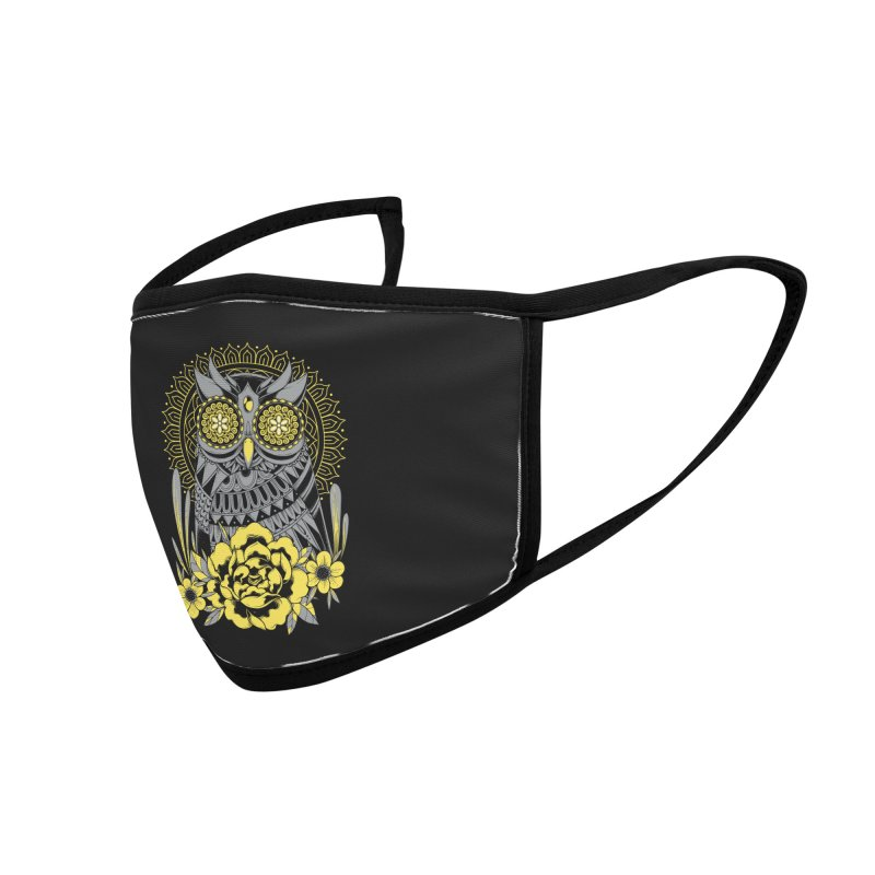 Golden Eyes Owl Accessories Face Mask by godzillarge's Artist Shop