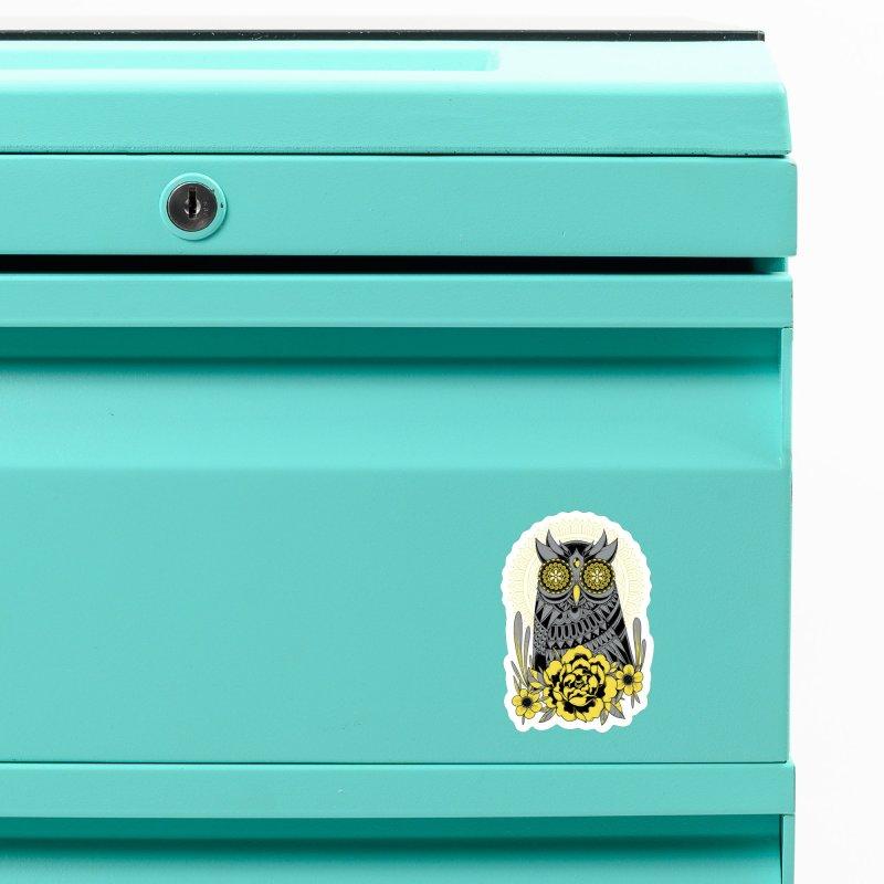 Golden Eyes Owl Accessories Magnet by godzillarge's Artist Shop