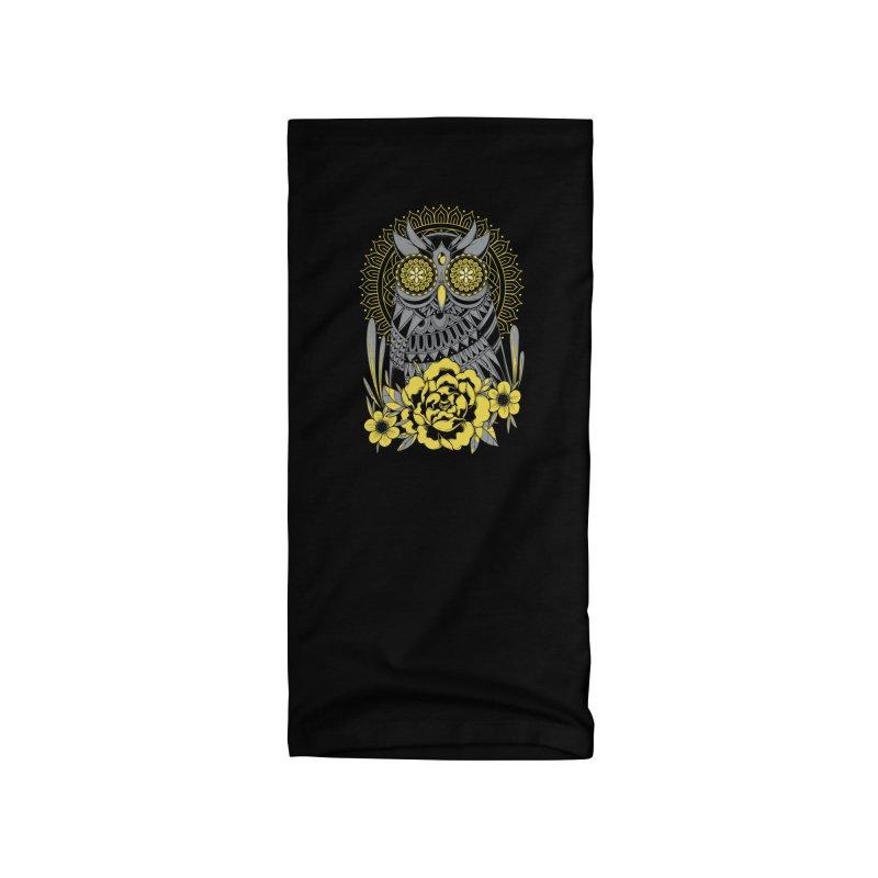 Golden Eyes Owl Accessories Neck Gaiter by godzillarge's Artist Shop