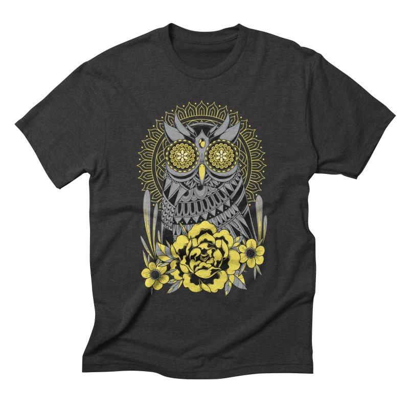 Golden Eyes Owl Men's T-Shirt by godzillarge's Artist Shop