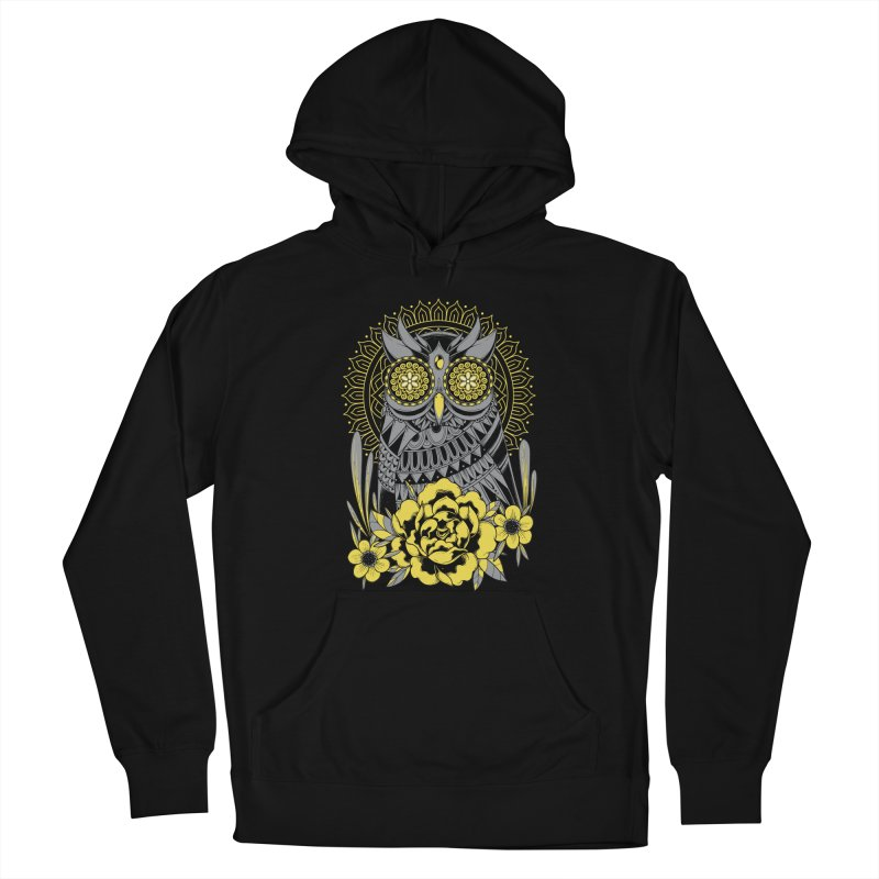 Golden Eyes Owl Men's Pullover Hoody by godzillarge's Artist Shop