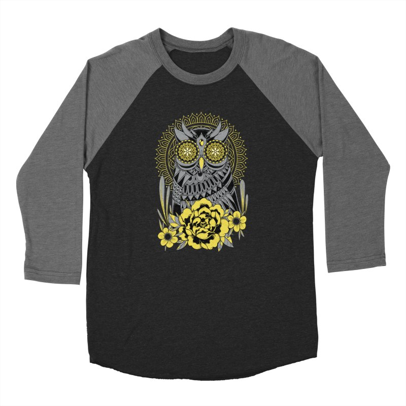 Golden Eyes Owl Women's Longsleeve T-Shirt by godzillarge's Artist Shop