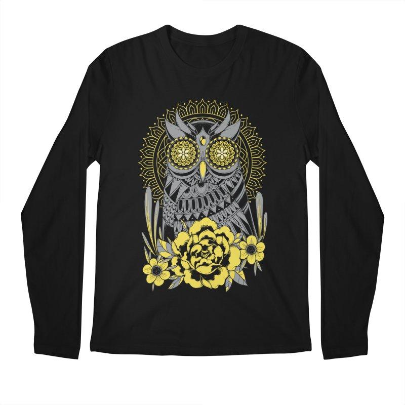 Golden Eyes Owl Men's Longsleeve T-Shirt by godzillarge's Artist Shop