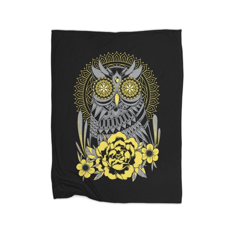Golden Eyes Owl Home Blanket by godzillarge's Artist Shop