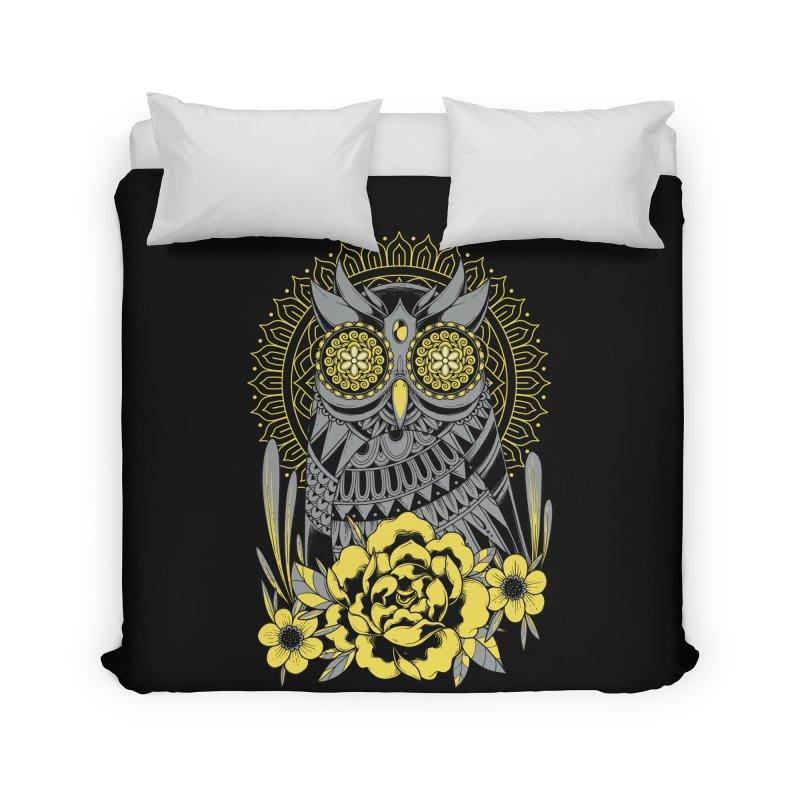 Golden Eyes Owl Home Duvet by godzillarge's Artist Shop