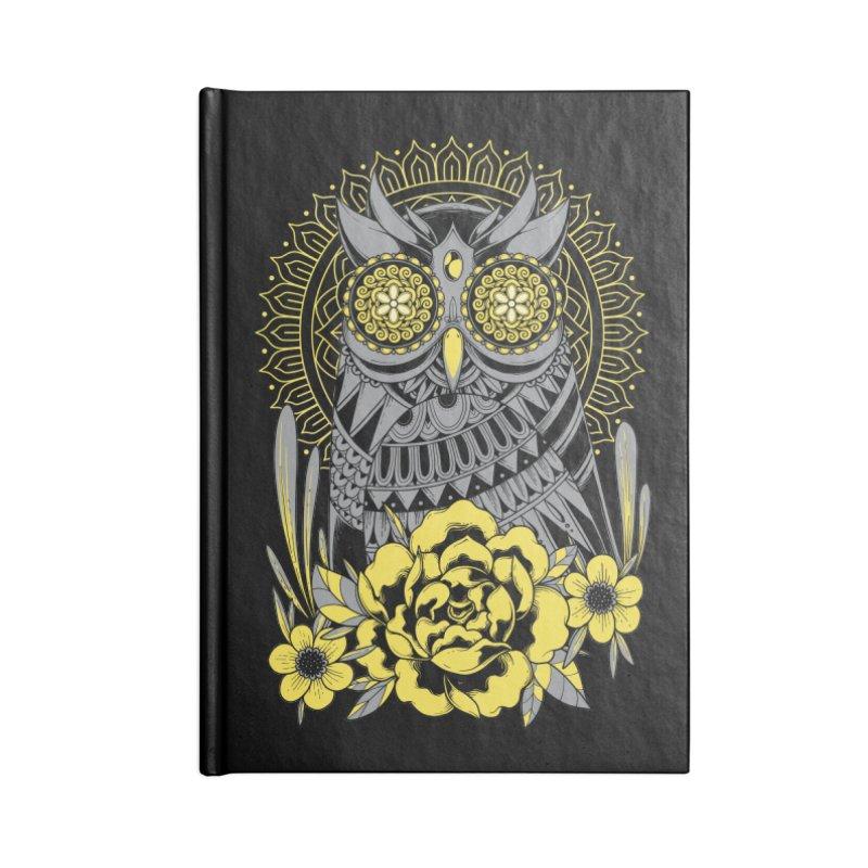 Golden Eyes Owl Accessories Notebook by godzillarge's Artist Shop