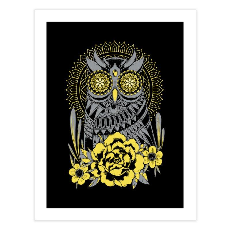 Golden Eyes Owl Home Fine Art Print by godzillarge's Artist Shop
