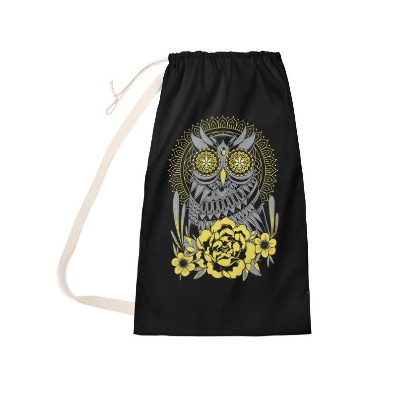 Golden Eyes Owl Accessories Bag by godzillarge's Artist Shop