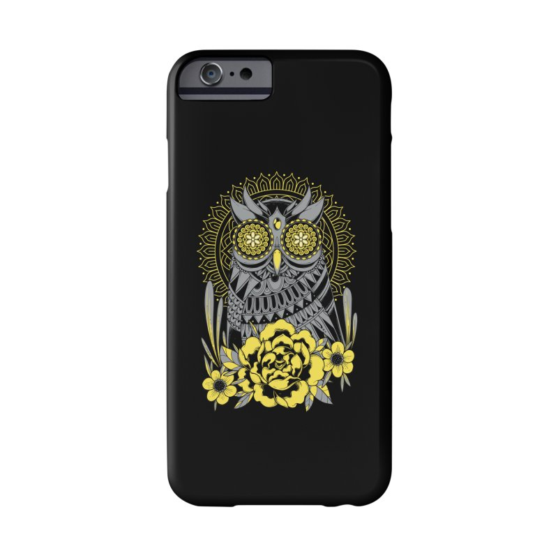 Golden Eyes Owl Accessories Phone Case by godzillarge's Artist Shop