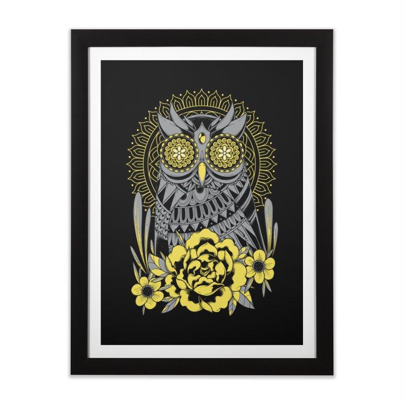 Golden Eyes Owl Home Framed Fine Art Print by godzillarge's Artist Shop