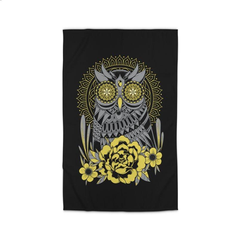 Golden Eyes Owl Home Rug by godzillarge's Artist Shop