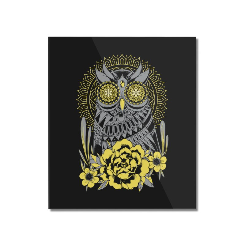Golden Eyes Owl Home Mounted Acrylic Print by godzillarge's Artist Shop
