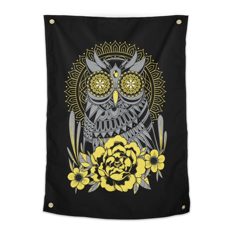 Golden Eyes Owl Home Tapestry by godzillarge's Artist Shop