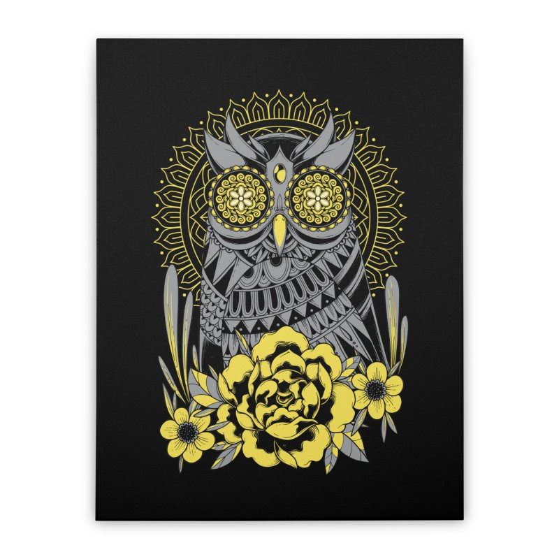 Golden Eyes Owl Home Stretched Canvas by godzillarge's Artist Shop