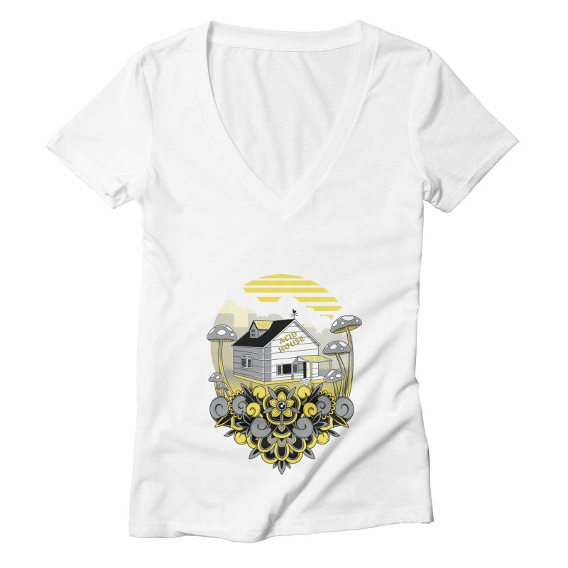 Acid House Women's V-Neck by godzillarge's Artist Shop
