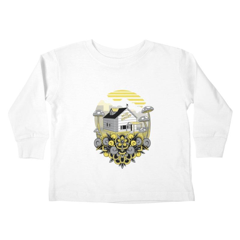 Acid House Kids Toddler Longsleeve T-Shirt by godzillarge's Artist Shop
