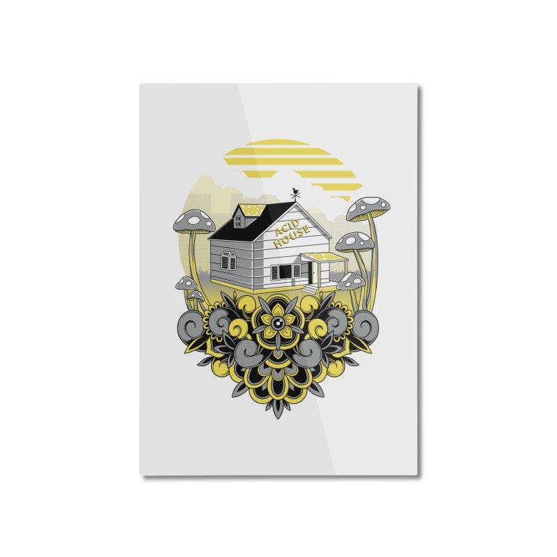 Acid House Home Mounted Aluminum Print by godzillarge's Artist Shop