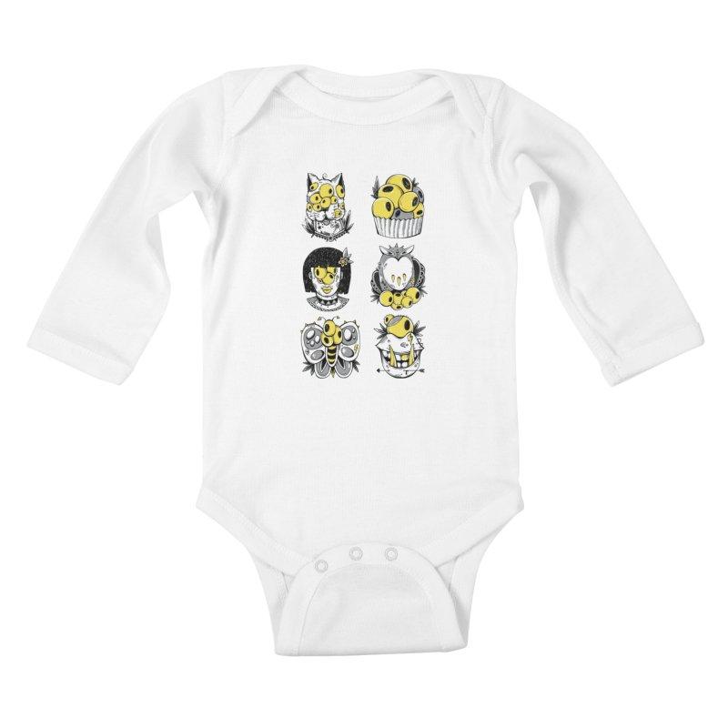 Monster Squad Kids Baby Longsleeve Bodysuit by godzillarge's Artist Shop
