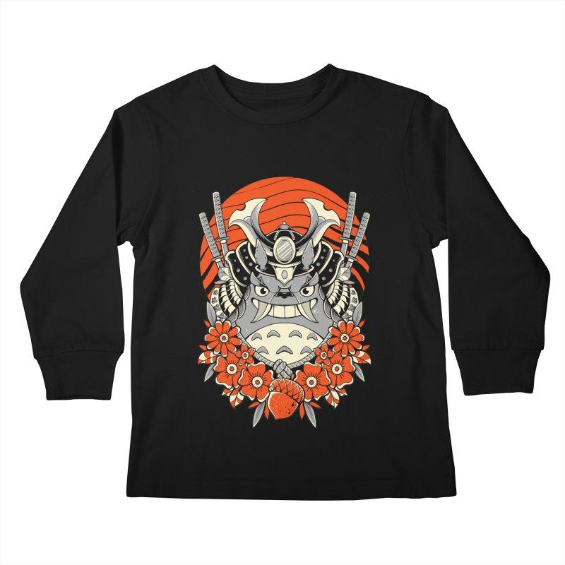Samurai Neighbor Kids Longsleeve T-Shirt by godzillarge's Artist Shop