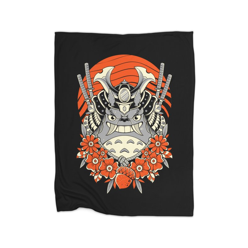 Samurai Neighbor Home Blanket by godzillarge's Artist Shop