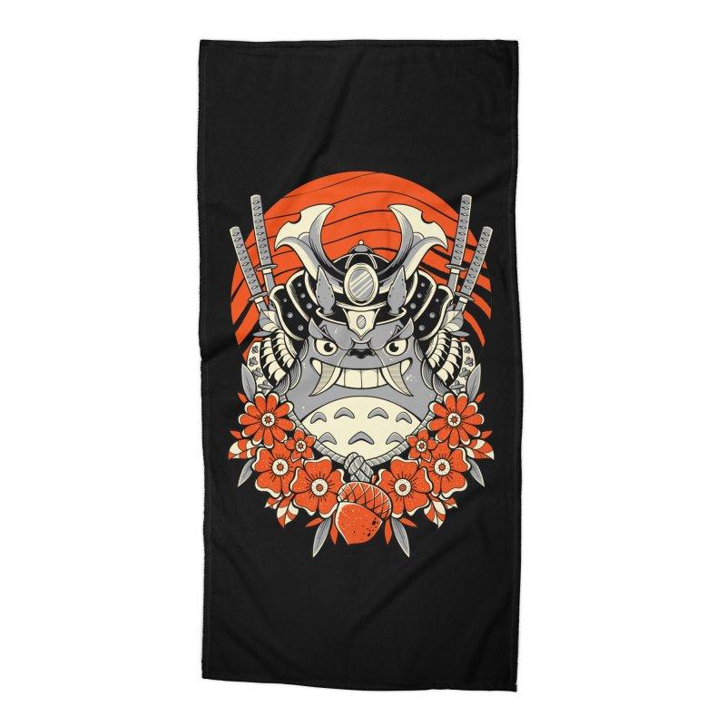 Samurai Neighbor Accessories Beach Towel by godzillarge's Artist Shop