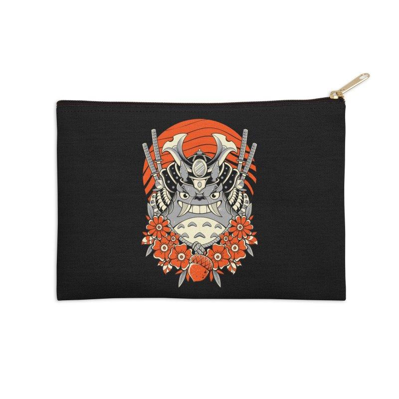 Samurai Neighbor Accessories Zip Pouch by godzillarge's Artist Shop