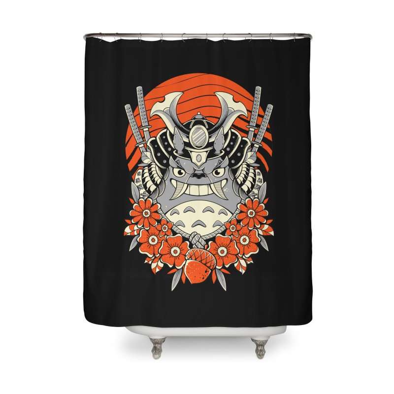 Samurai Neighbor Home Shower Curtain by godzillarge's Artist Shop