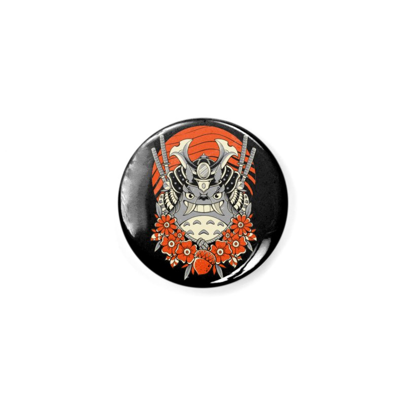 Samurai Neighbor Accessories Button by godzillarge's Artist Shop