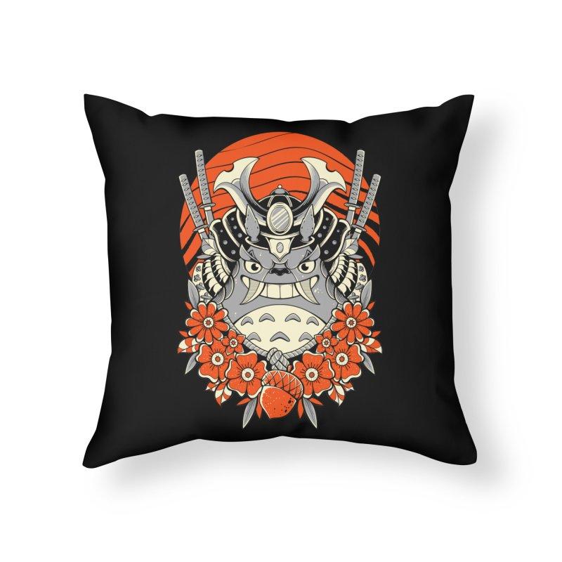 Samurai Neighbor Home Throw Pillow by godzillarge's Artist Shop
