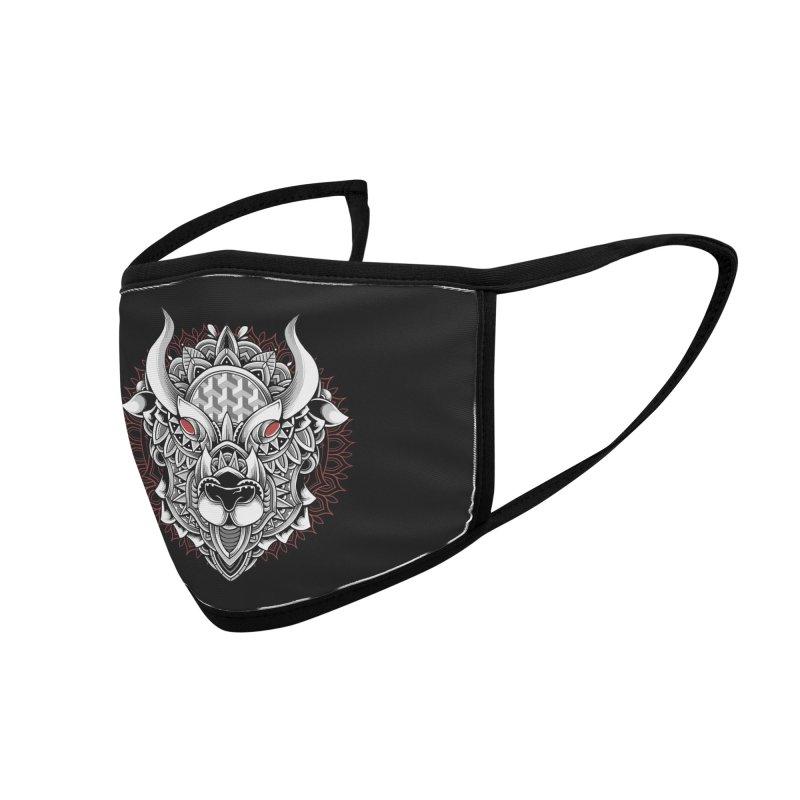 Ox Mandala Accessories Face Mask by godzillarge's Artist Shop