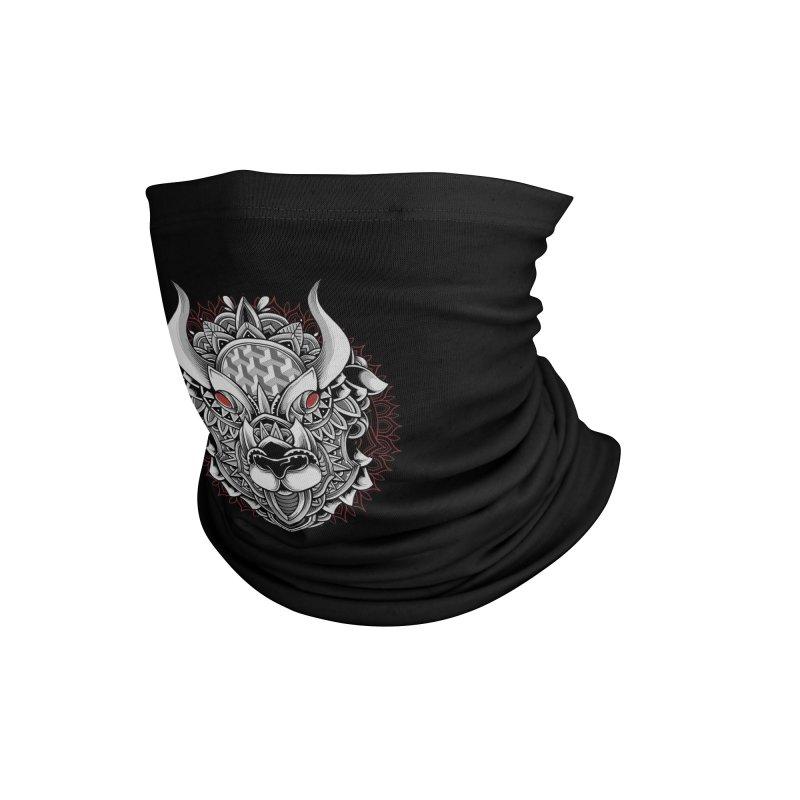 Ox Mandala Accessories Neck Gaiter by godzillarge's Artist Shop