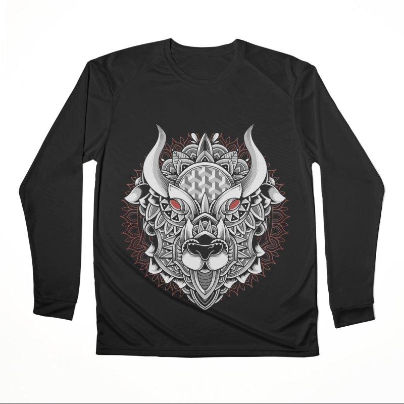 Ox Mandala Men's Longsleeve T-Shirt by godzillarge's Artist Shop