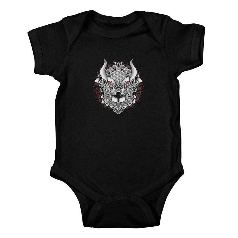 Ox Mandala Kids Baby Bodysuit by godzillarge's Artist Shop