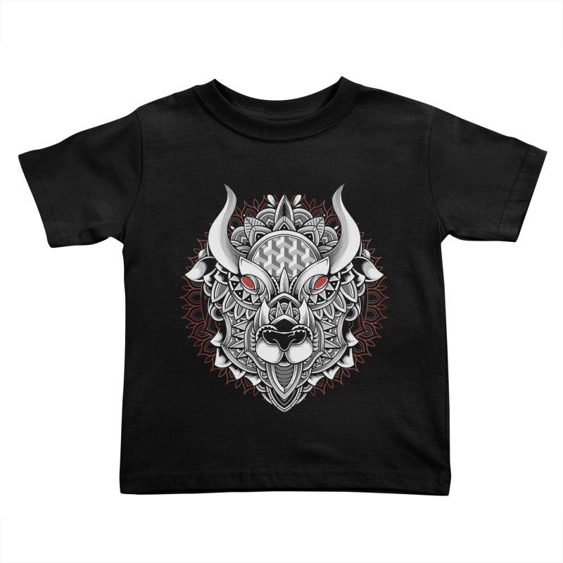 Ox Mandala Kids Toddler T-Shirt by godzillarge's Artist Shop